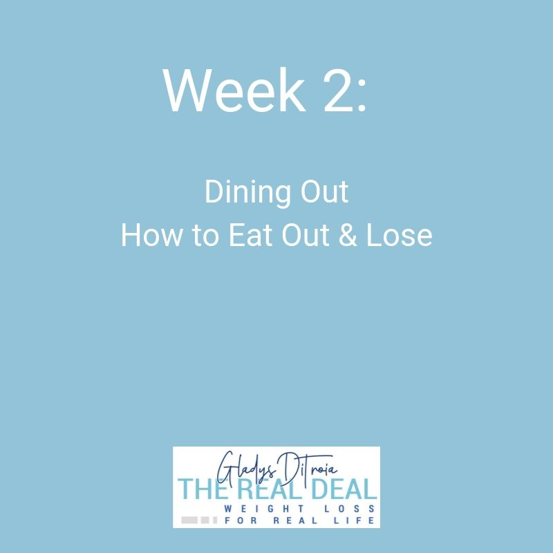 The Real Deal Online Weight Loss Program - Week 2