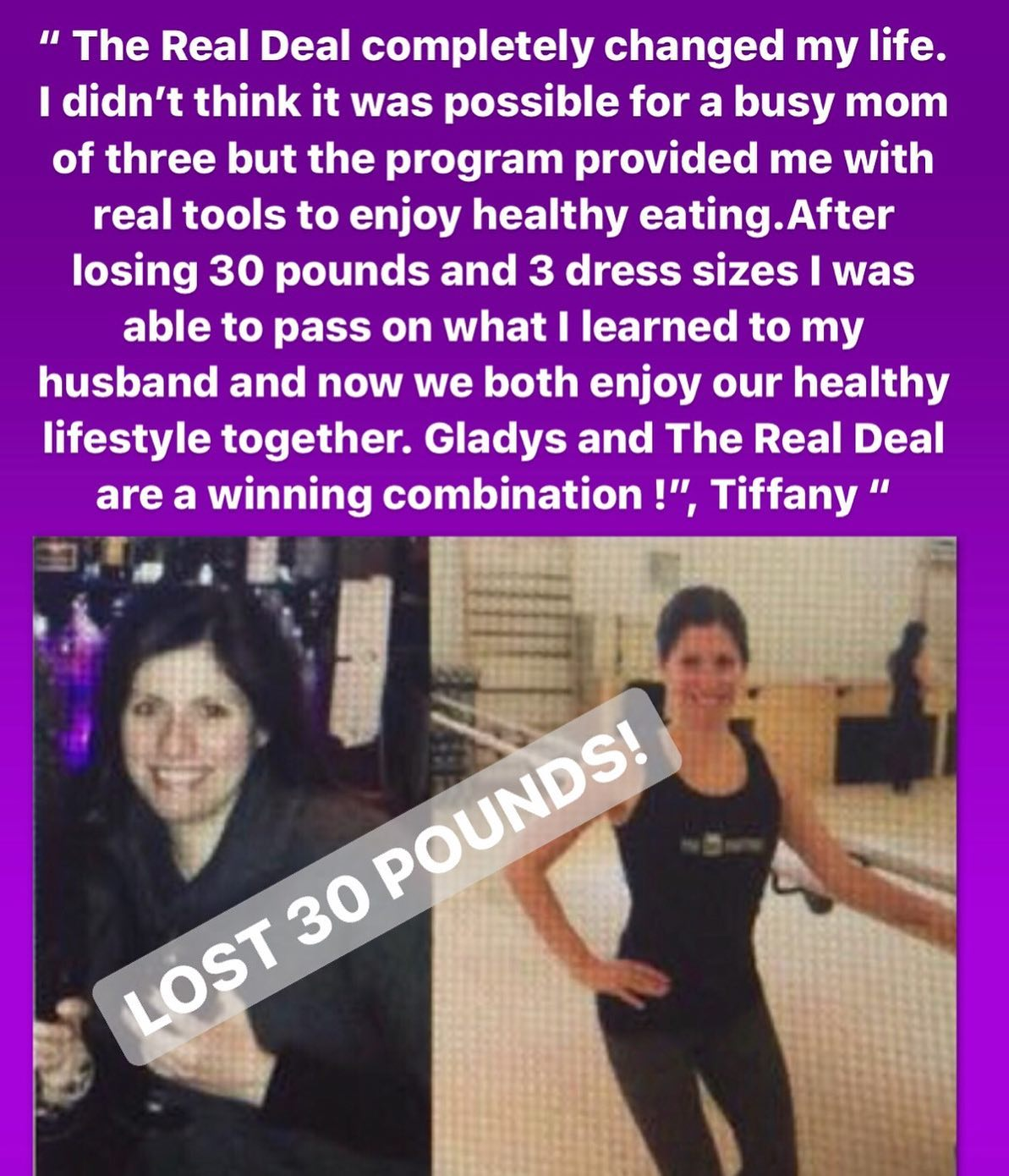 The Real Deal Online Weight Loss Program Results - Tiffany