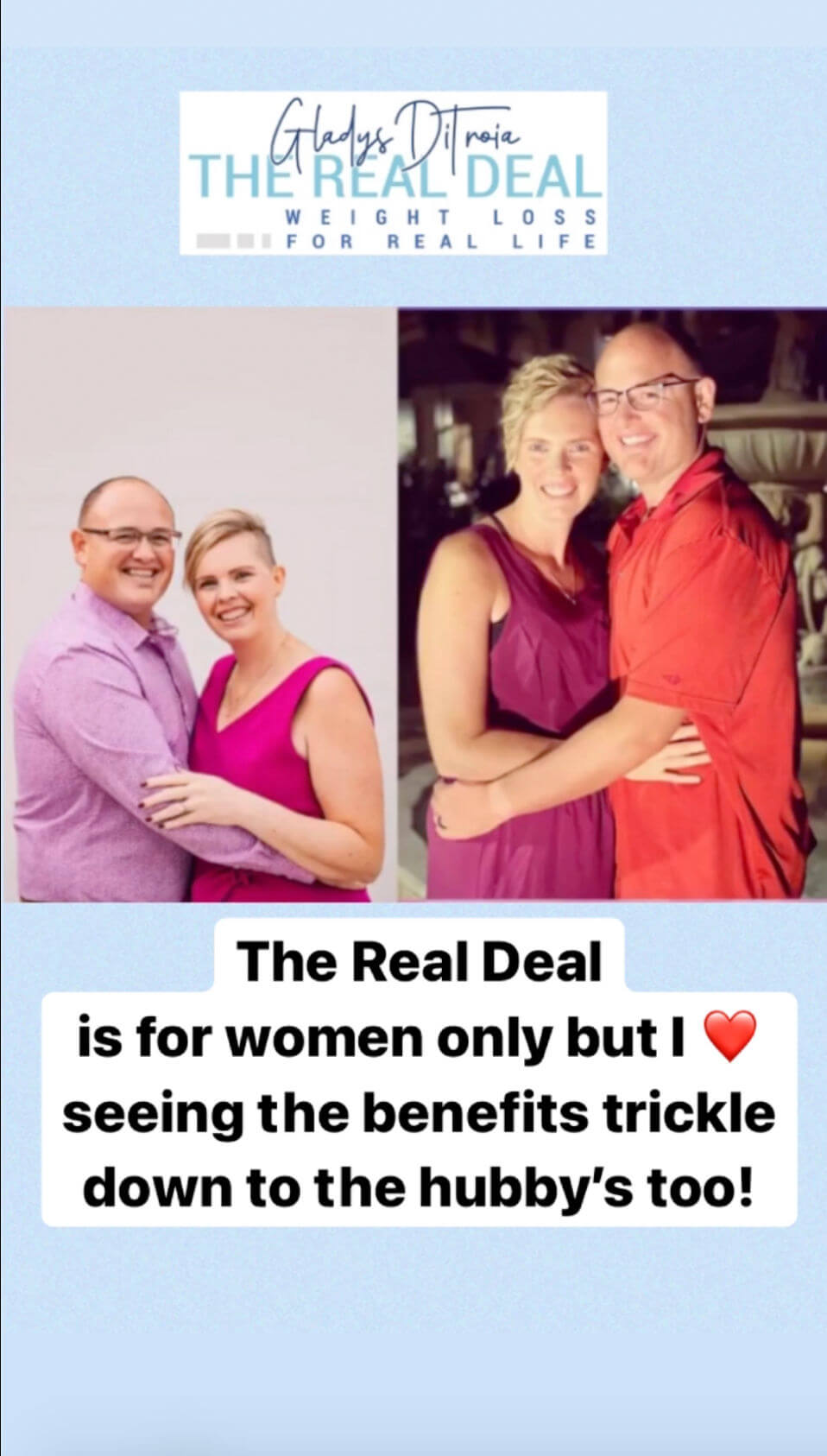 The Real Deal Weight Loss- Husbands Lose Too