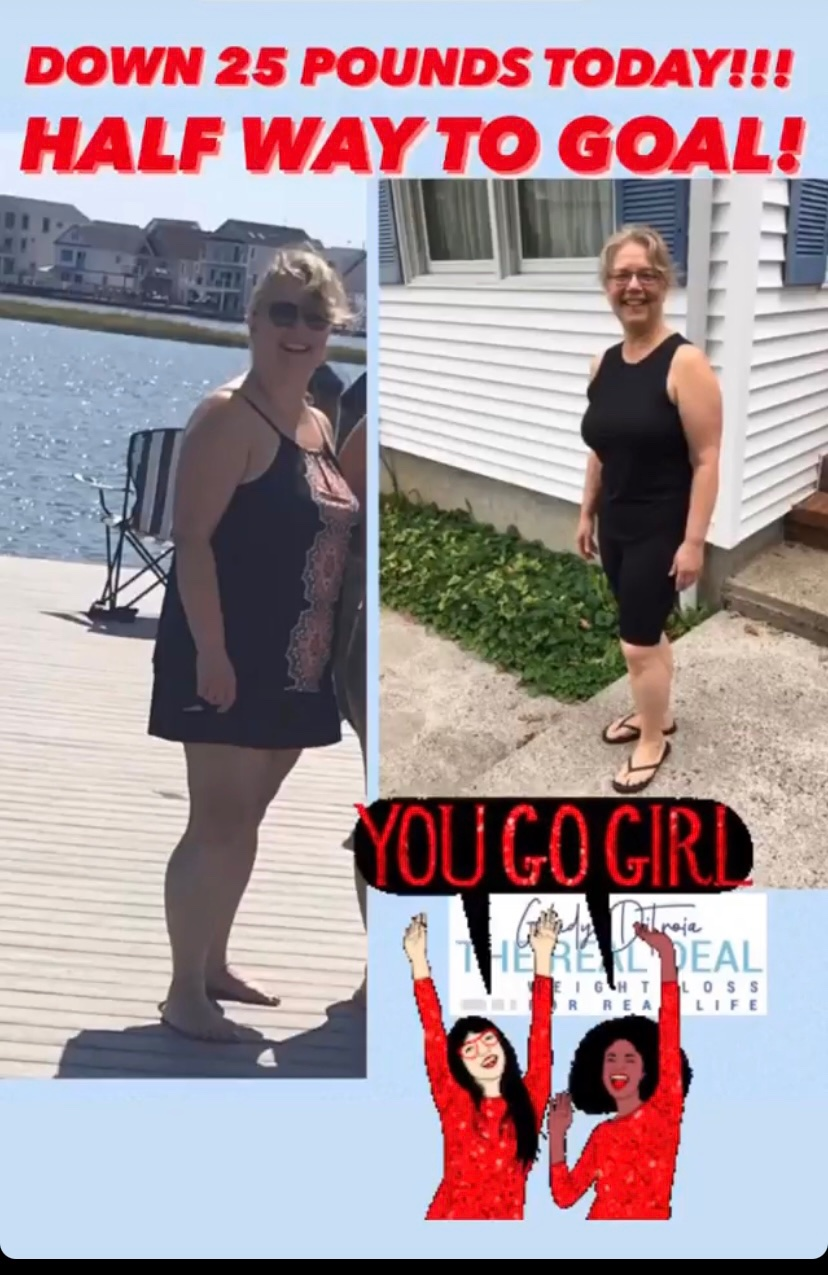 The Real Deal Weight Loss- Halfway to goal