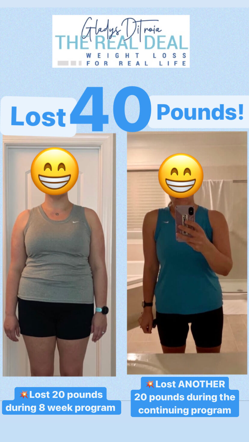 The Real Deal Weight Loss - lost 40lbs